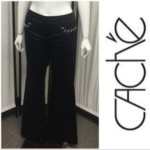 Adorable Black & White Jean Like Pants By Cache